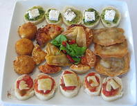 Plateful of canapes