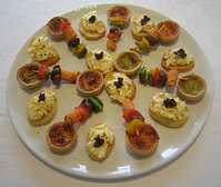 Mouthwatering canapes