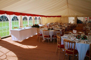 Marquee set with tables